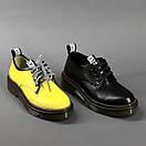 Кожаные женские стильные модные туфли со шнуровкой, фото 7