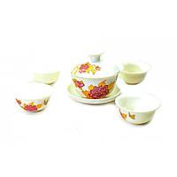 """Сервиз для чайной церемонии """"Пионы"""" 17х18х9,5 см)(Заварник - 100мл., чашка - 20мл.)R"""