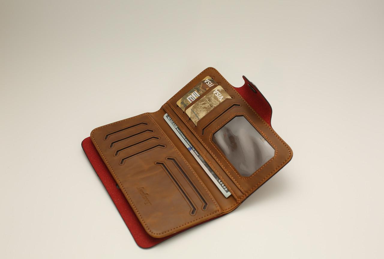 Мужской кошелек Портмоне стильный удобный Baellerry COK10 Коричневый