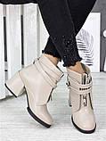 Ботильоны женские кожаные пудра, фото 3