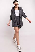 Женский свободный костюм с пиджаком и шортами (Криспи-шорты ri), фото 3