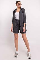Женский свободный костюм с пиджаком и шортами (Криспи-шорты ri), фото 2