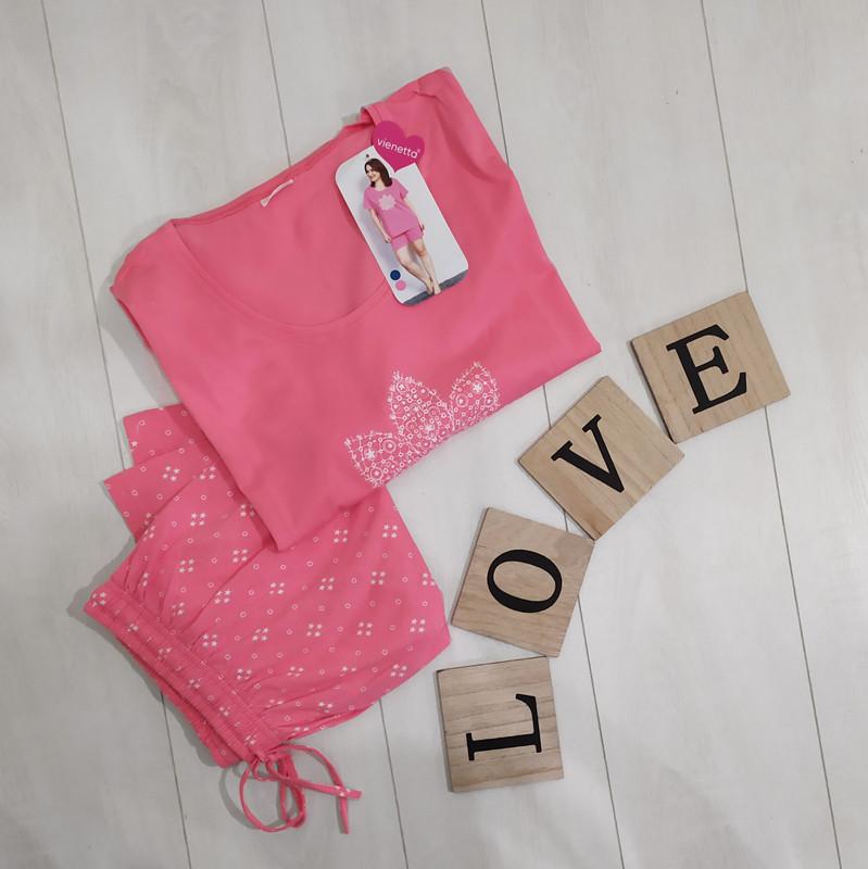 Комплект летний женской домашней одежды(футболка короткий рукав+ шорты) х/б  VS