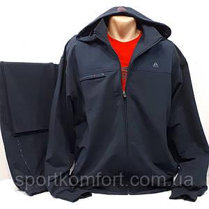 Батальний чоловічий спортивний трикотажний костюм, Soccer, Туреччина, темно-синій, розміри 3хл, 4хл, 5хл, 6хл.