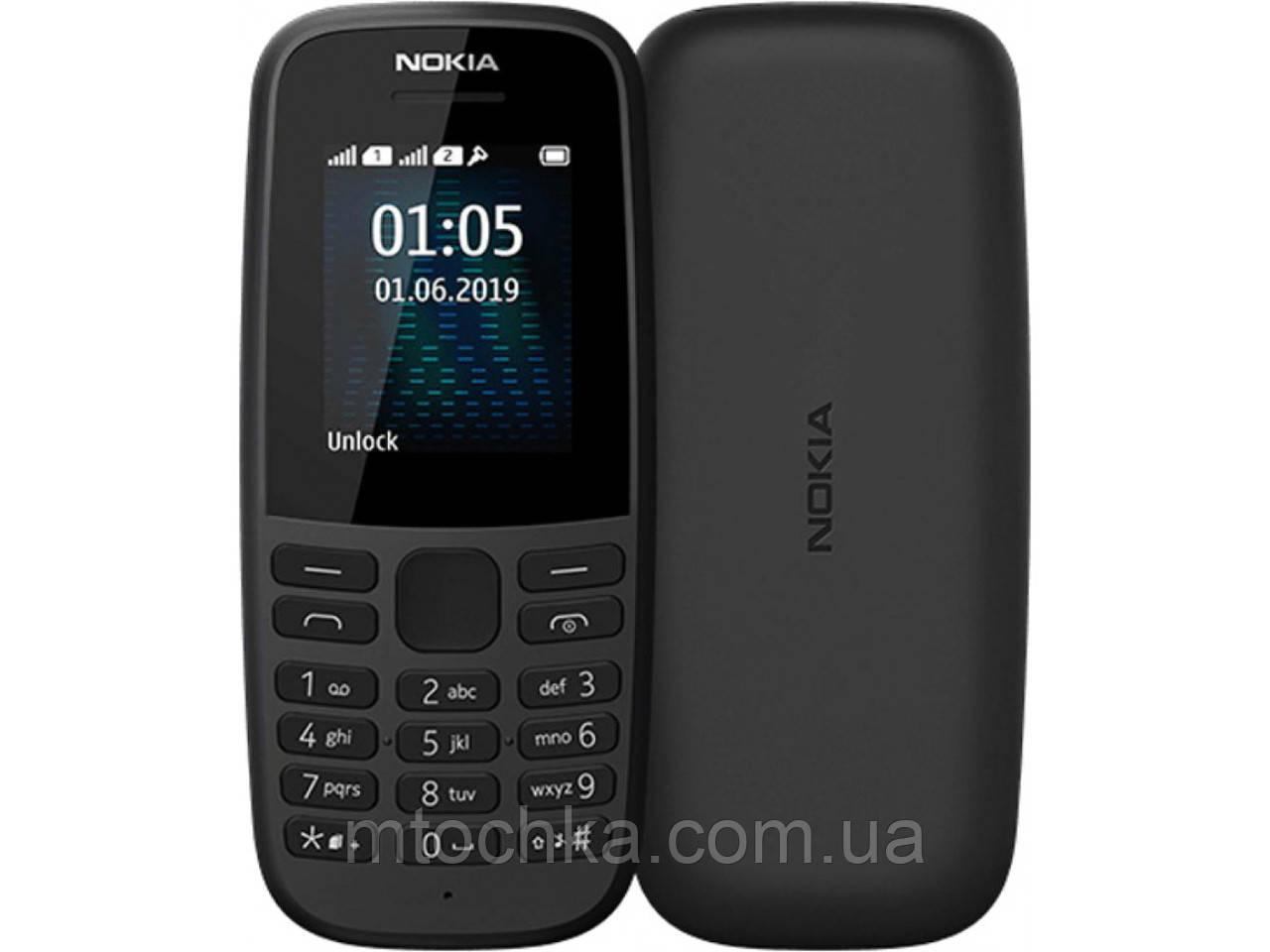 Мобильный телефон  105 Dual Sim 2019 Black (официальная гарантия)