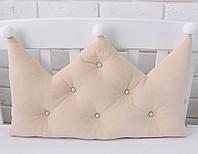 Бортик-корона в детскую кроватку бежевого цвета
