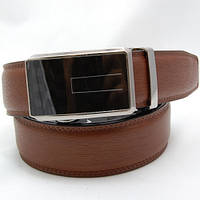 Ремень кожаный мужской Alon светло-коричневый (H5555)