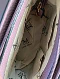 Жіноча чорна сумка з довгим ременем код 7-519, фото 3