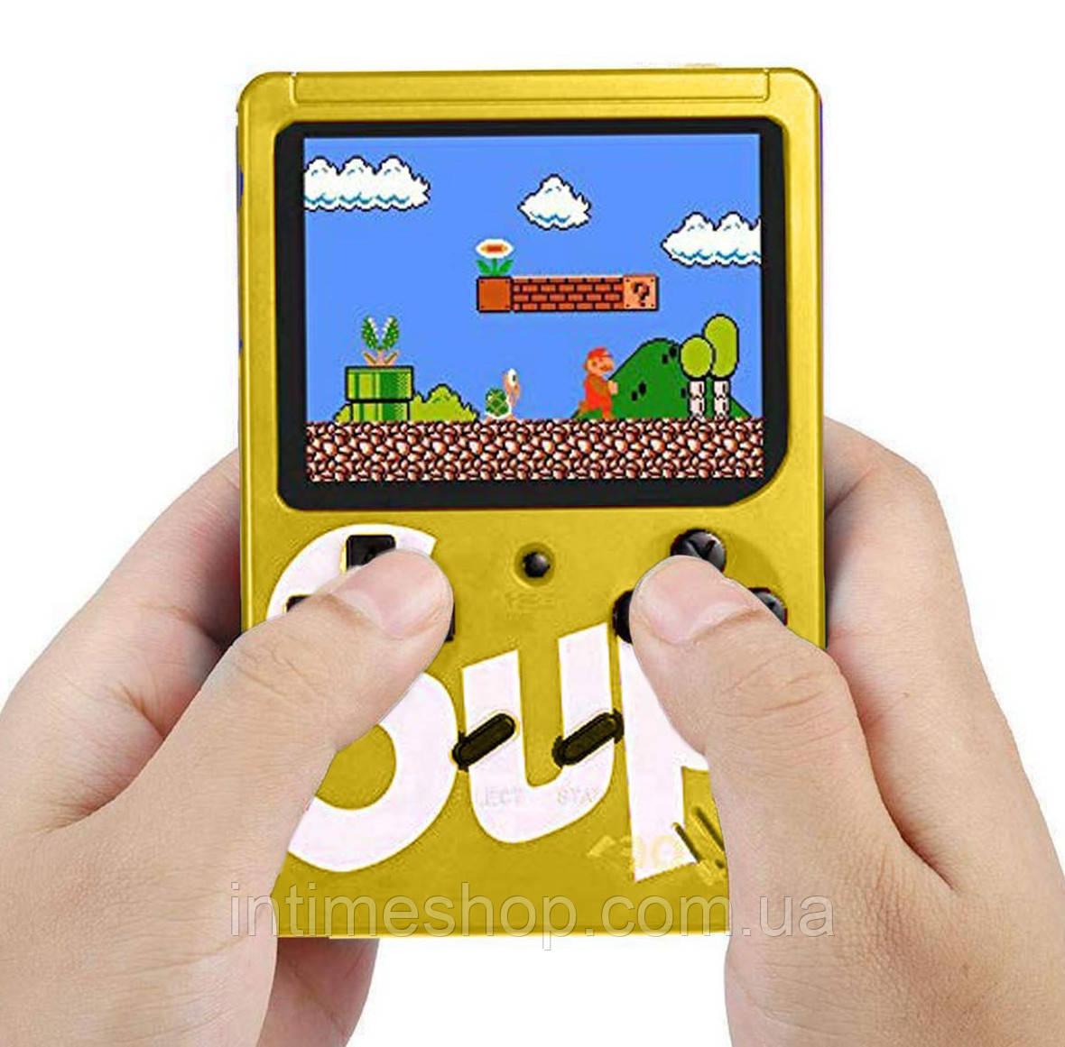 Портативная ретро консоль 8 бит приставка Денди Retro Game Box SUP 400 in 1 Желтая с доставкой