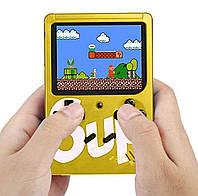 Портативная ретро консоль 8 бит приставка Денди Retro Game Box SUP 400 in 1 Желтая с доставкой, фото 1