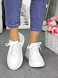 Женские кроссовки кожаные белые в стиле Balenc!aga, фото 3