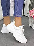 Женские кроссовки кожаные белые в стиле Balenc!aga, фото 4