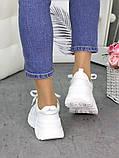 Женские кроссовки кожаные белые в стиле Balenc!aga, фото 6