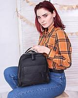 Сумка-рюкзак М258 black трансформер через плечо из натуральной кожи, фото 1