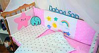 Защита-бортики в кроватку для новорожденных Добрый Сон от комплекта Леко 4 шт Звездочка (1-06-1/2)