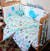 Защита-бортики в кроватку для новорожденных Добрый Сон от комплекта Леко 4 шт Кит (1-06-1/3)