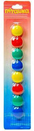 """Набор цветных магнитов 8 шт. на блистере d=20 мм """"Пегашка"""" M-20"""