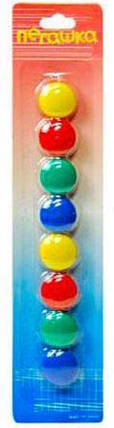 """Набор цветных магнитов 8 шт. на блистере d=20 мм """"Пегашка"""" M-20, фото 2"""