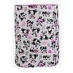 Мешок (корзина) для хранения, Ø35 * 45 см, (хлопок), с отворотом (панды с шариками / горох на розовом), фото 2