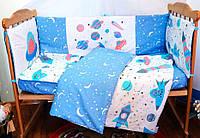 Защита-бортики в кроватку для новорожденных Добрый Сон от комплекта Леко 4 шт Космос (1-06-1/4)