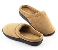 🔝 Тапочки домашние с пено-гелевой стелькой Comfort Gel Коричневые Размер M (39) комнатные | 🎁%🚚