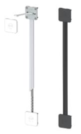 Вирівнювач для дверей серії 211, L=2330 мм (із сірою/чорною заглушкою)