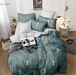 Двуспальный комплект постельного белья «Кактусы» 177х217 из сатина (50х70)