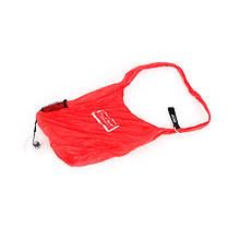 Складається сумка для покупок у вигляді рулетки - червона