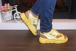 Босоножки женские желтые Б325, фото 5