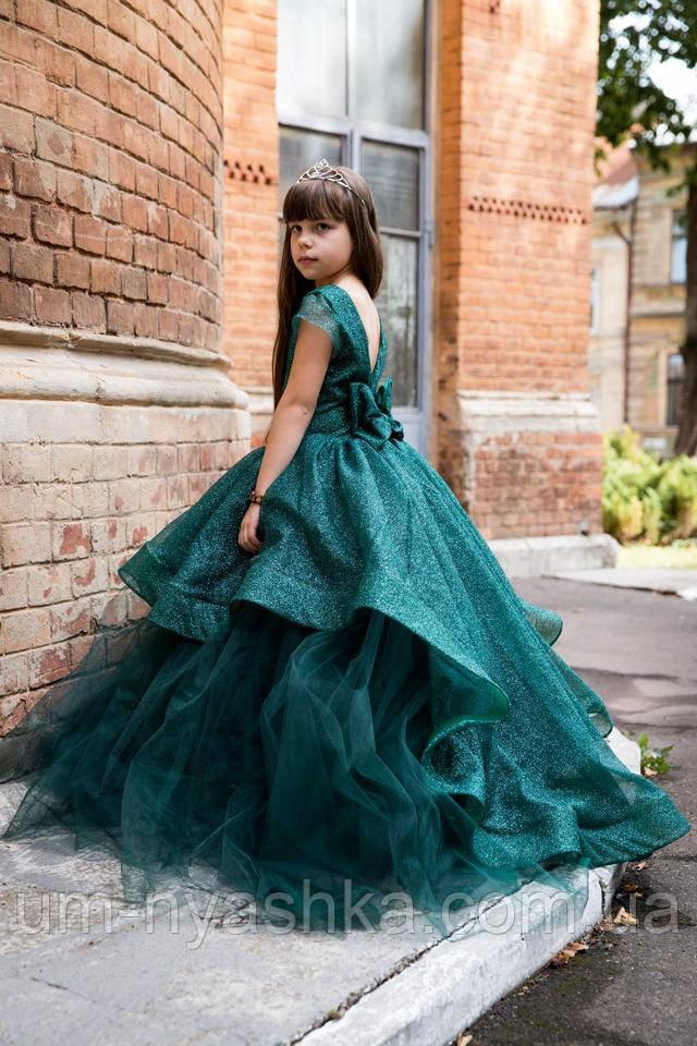 изумрудное платье елочка