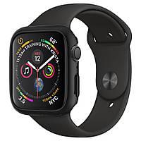Чехол Spigen для Apple Watch SE / 6 / 5 / 4 (44mm) Thin Fit, Black (062CS24474)