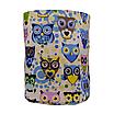 Мешок (корзина) для хранения, Ø35 * 45 см, (хлопок), с отворотом (сказочные совы голубые / горох на зеленом), фото 2
