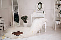 Коврик из 4-х декоративных овечьих шкур, 4в1 белый, размер 200х120