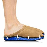 🔝 Комнатные тапочки спено-гелевой стелькой Comfort Gel Коричневые Размер L (40) для дома | 🎁%🚚