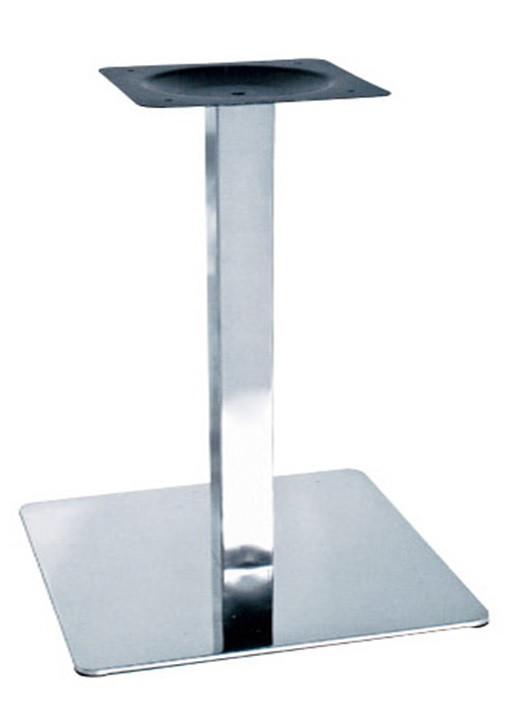 Опора для стола Нил (нержавеющая сталь inox) (высота 72 см, основание 50*50 см)