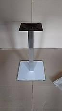 Опора для стола Нил (нержавеющая сталь inox) (высота 72 см, основание 50*50 см), фото 2