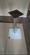 Опора для стола Нил (нержавеющая сталь inox) (высота 72 см, основание 50*50 см), фото 3