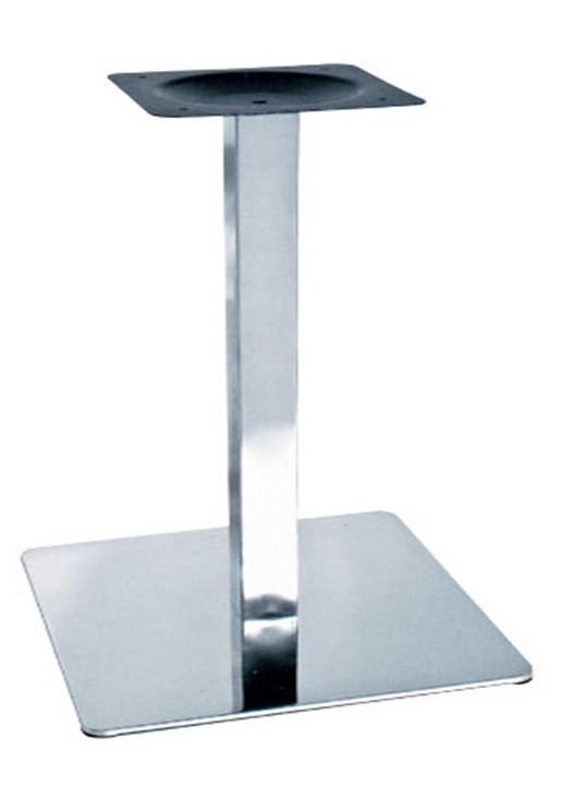 Опора для стола Нил (нержавеющая сталь inox) (высота 72 см, основание 40*40 см)