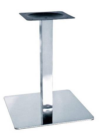 Опора для стола Нил (нержавеющая сталь inox) (высота 72 см, основание 40*40 см), фото 2