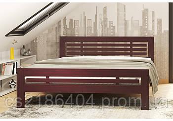 """Деревяне двоспальне ліжко 106х200 """"Фрезія"""" сосна"""