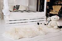 Ковер из овечьих шкур, белый, 200*70см