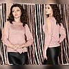 Люрексовый пуловер с бусинами 42-44 (в расцветках), фото 3