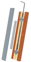 Вирівнювач для дверей серії TNB421, L = 2300мм з алюмінієвої заглушкою