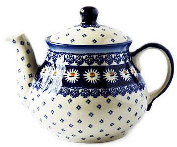 Заварочный керамический чайник 1,5L Маргаритки