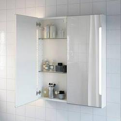 IKEA STORJORM 202.481.23 ЗЕРКАЛЬНЫЙ шкаф, встроенный освещение, белое, 80x14x96 см