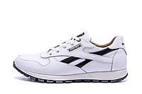 Мужские кожаные кроссовки Reebok Classic White  (реплика), фото 1
