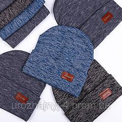 Трикотажный комплект шапка и хомут на подкладке х/б р42-44 уп 5шт