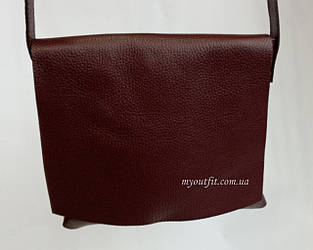 Женская кожаная сумка почтальон