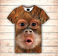 Футболка 3D  Monkey Kiss (Футболка Big Face), фото 1