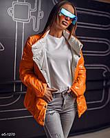 Женская стильная двусторонняя куртка весенняя Разные цвета С, М +большие размеры